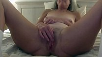 60 Year Old Brunette Wife Toys Her Hot Cunt Fin...
