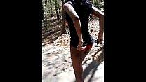 Sexy Ebony Public Nudity While Walking