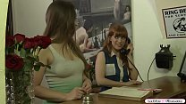 Busty redhead and her new best friend are in th...