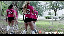 Two Hot Tiny Blonde h. Teens Have Group Sex Wit...