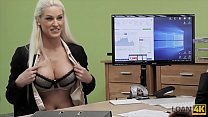 LOAN4K. Seductive chick with big boobs rides di...