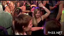 Tons of group sex on dance floor blow jobs from...