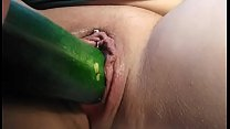 Vegetable pussy insertion