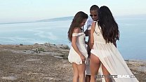 Beach Babes Anita Bellini & Eveline Dellai thank their Black Stallion Guide with their mouths & their open legs as he fucks them both until he cums in this hot interracial threesome! Thumbnail
