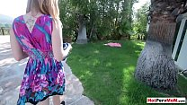 Banging my busty mature stepmother in the garden
