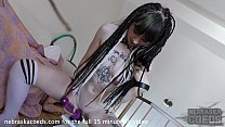 fresh suicide girl stuffing her tiny gash with ...