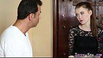 Fool teen throats masseur