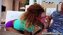 Petite ebony fucked by hung teacher
