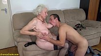 chubby 91 years old hairy granny norma with big...