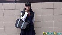 Japanese student toying