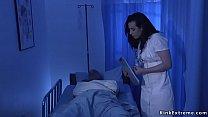 Nurse Casey Calvert collected cum from patient ...