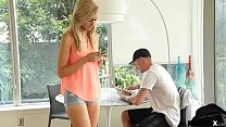 Step-brother teaches his step-sister a lesson b...