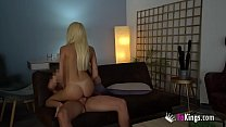 Hottest blonde babe films her amazing fuck with...