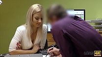 LOAN4K. Sext blonde pays for her debts using he...