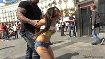 Big muscled master d. small Spanish slut in pub...