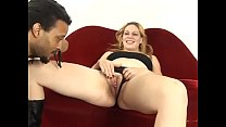 Blonde whore gets her hairy twat  licked then f...