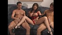 Two horny men penetrate slutty Asian housewife ...