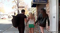 Big tits blonde Milf is dragged by master and m...