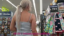 Petite 18 Year Old Flashing in Walmart