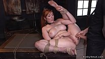 Natural huge tits redhead gets big ass whipped ...