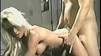 Vintage homemade video of a hot blonde with big...