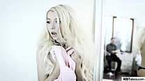 Small boobed blonde teen got her pussy destroye...