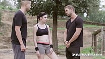 Personal trainer Rebecca Volpetti gives 2 young...