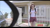Young Virgin Schoolgirl Kelsey Kage Sex With Po...