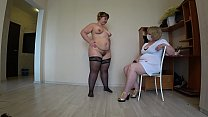 Thick lesbian at a reception at a mature doctor...