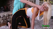 Slutty Milf Pervert Step Son in Yoga Session
