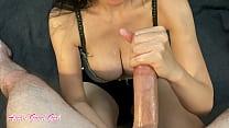 Busty Asian girl jerks a big cock for teacher (...
