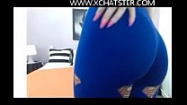 WWW.XCHATSTER.COM Hijabi In Amazing Tight Leggi...