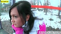 This brunette slut loves to play with a huge di...