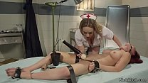 Lesbian psycho patient straps teen nurse and wh...
