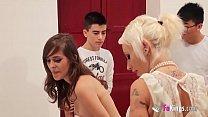 FAKings school! Gina teaches Ainara and Jordi a...
