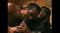 Busty darkhaired mistress allows dude to lick h...