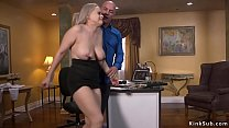 Boss Derrick Pierce caught huge tits horny blon...