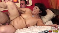 Hardcore old and young intercourse with a busty...