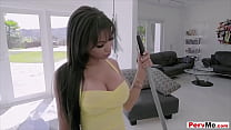 My brunette stepmoms hot ass is the best of the...