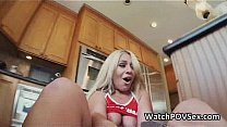 Watch Fucking busty blonde gf on kitchen table preview