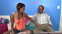 Petite teen screwed by her stepdaddy
