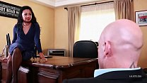 Asian MILF fucked in her office