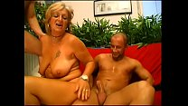 Dirty mature slut gets penetrated by two muscul...
