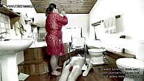 Mistress April - my slave as my bathroom toilet