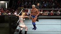 mixed wrestling match