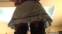 Ririka Hoshikawa takes off skirt and stretches ...