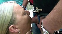 Watch Outdoor, by a group of men, forced to swallow cum and piss! preview