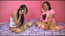 Two Teens Tag Team A Big Cock