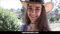 Young Petite Cowgirl Step Daughter Tali Dova Fu...