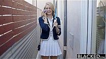 BLACKED Blonde Girlfriend Alli Rae Loves Black Cock's Thumb